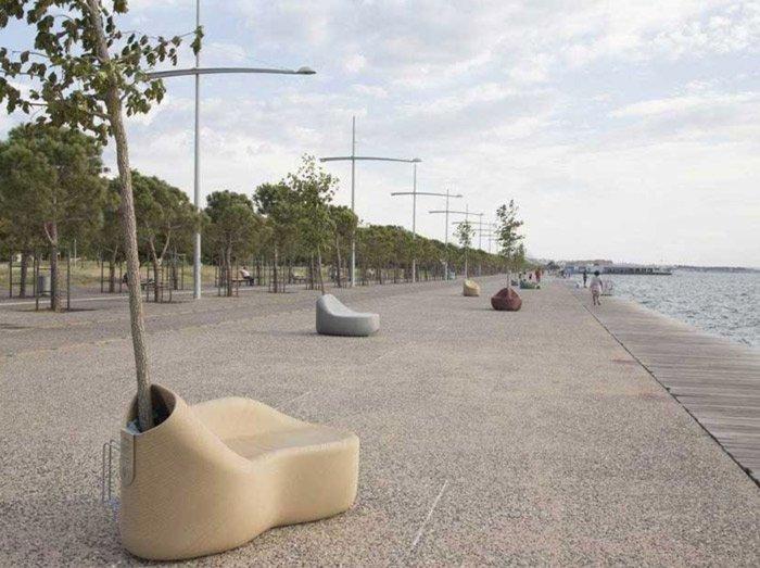 Arredi Urbani Plastica Riciclata.Gli Arredi Urbani Progettati Dai Cittadini E Stampati In 3d Con Plastica Riciclata 28doit